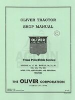 Oliver 55 550 660 770 880 3 Point Hitch Service Manual