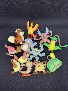 Pokemon Tomy Vintage Figure Lot Of 12 Machamp Moltres Growlith Cubone Plus More