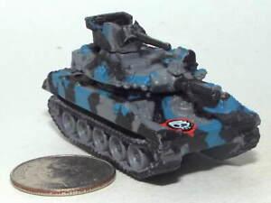 Small Micro Machine Plastic M-551 Sheridan Tank in Gray/Blue/Black Camouflage