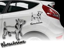 Voiture autocollants chiens autocollant Bull terrier miniature