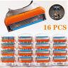 16Pcs 5-layer Shaver Razor Blades Cartridges for Gillette Fusion 4 Pack Orange