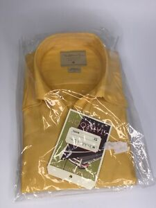 Madeleine Finn Vintage dress shirt NEW OLD STOCK mint in bag YELLOW L-XL