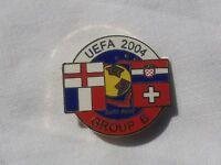 ENGLAND SWITZERLAND CROATIA FRANCE EURO 2004 GROUP B OFFICIAL PIN BADGE V GOOD