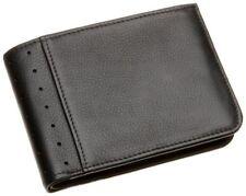 Cartera/billetera de hombre en color principal negro de piel