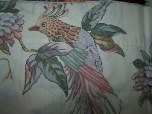 "CROSCILL VALANCE EXTRA LONG 18"" X 102"" TROPICAL BIRDS"