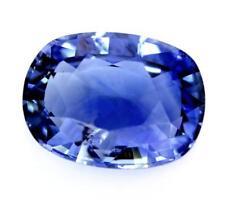 Certified Natural Ceylon Blue Sapphire 1.52ct SI Clarity Sri Lanka Cushion