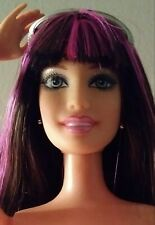 Barbie Raquelle Fashionista Doll Pink Streak Hair Bangs Jointed Elbows Nude OOAK