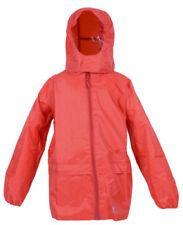 Abbigliamento impermeabili rossi impermeabili per bambini dai 2 ai 16 anni