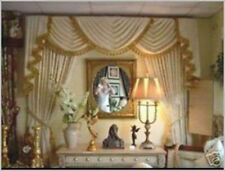 NEW DESIGNER SWAGS AND TAILS  & CURTAINS TASSELED