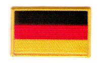 Toppe Toppa PATCH GERMANIA Bandiera 7x4.5cm banderina ricamata termoadesivo