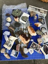Collection of Minerals, Fossils and Rocks