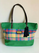 NEW! TOMMY HILFIGER GREEN PLAID NEVERFULL MEDIUM SHOPPER TOTE BAG PURSE $69 SALE