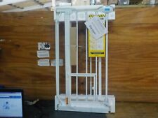New listing Carlson Extra Wide Walk Through Pet Gate with Small Pet Door, Includes 4-Inch Ex