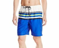 Calvin Klein CK Men's Microfiber Striped Volley Swim Trunk Mesh Lined Size XXL