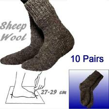 10 Pairs Wholesale Wool Gray Socks size 27-29 cm 100% Sheep Wool Handmade