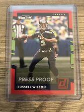 Russell Wilson 2017 Panini Donruss Red Press Proof Seattle Seahawks Card #119