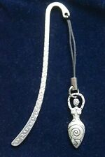 Spiral Goddess Metal Bookmark, witch wicca earth mother pagan book lover present