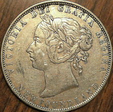 1899 NEWFOUNDLAND SILVER 50 CENTS - Wide 99 - Excellent example!