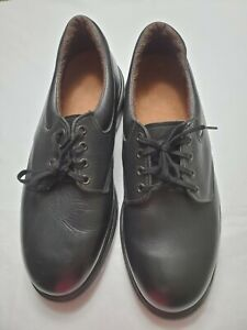 RED WING Mens 10.5 Black Leather Oxford Work Shoes Model 107 EH USA