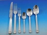 Aria by Christofle France Silverplate Flatware Service for 8 Set 52 pcs Dinner