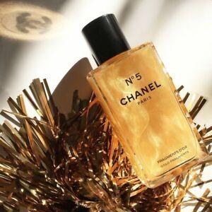 CHANEL Giftwrap FRAGMENTS D´OR SPARKLING BODY GEL 250ml Glass Bottle Sealed Box