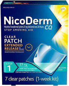 NicoDerm CQ Step 1 - Nicotine Patches, Stop Smoking Aid, 7 Count (1 Week Kit)