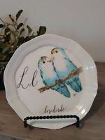 "SOLD OUT~LINEA CARTA ANTHROPOLOGIE Alphabet PLATE~""L"" lovebirds ~NWT~d. Pyari"