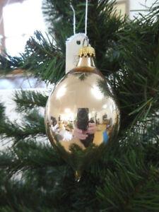 Christbaum Weihnachtsschmuck Kugeln Tropfenform Gold Retro Alt 60er 70er