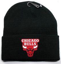 READ LISTING! Chicago Bulls HEAT Applied Flat Logo on Beanie Knit Cap hat!