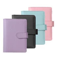 More details for a6 pu leather notebook binder budget planner organizer cover pockets cash wallet