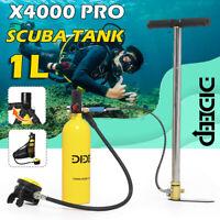 DIDEEP X400 Pro 1L Scuba Tank Oxygen Cylinder Dive Diving Snorkeling Sport Set