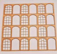 Windows Sheets. Laser Cut Scratch Aid Layout Kit OO Gauge 4mm Model Railway W2
