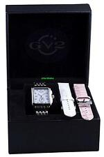 GV2 by Gevril Womens Bari Diamond LTD Bracelet Luxury Watch w/ Extra Straps
