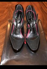 CARMEN STEFFENS BLACK PATENT AND SUEDE MARYJANE HEELS SIZE 7- BRAND NEW IN BOX