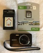 Sony Cybershot DSC-WX9 16.2MP Digital Camera - Black~~Nice~~16GB SD Card~~