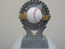 """Nice little baseball award trophy, great for t-ball w/ engraving, about 4.5"""" H"""