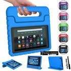 For Amazon Fire 7  HD 8  Tablet ShockProof EVA Handle Kids Stand Cover Case +Pen