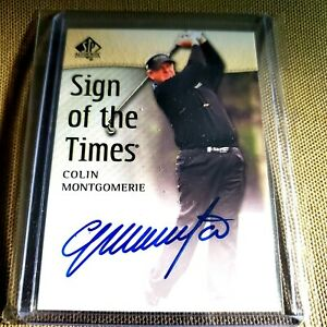 2013 SP SOTT COLIN MONTGOMERIE AUTOGRAPH WORLD GOLF HALL OF FAME 2013