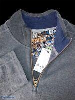 Robert Graham Size XL 1/4 Zip Charcoal Pullover Sweater - $198 NWT