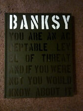 BANKSY: You Are an Acceptable Level of Threat- Shove & Potter '12 1st HC Edition