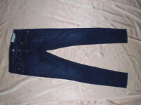Rag And & Bone Dark Wash Jean Skinny Jeans In Woodford Denim Dark Blue Sz 27