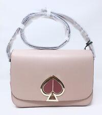 NWT Kate Spade Nicola Twistlock Medium shoulder bag Blush Leather $398
