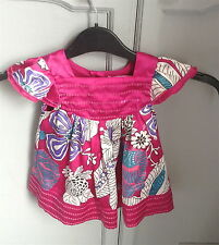 Pretty  polyester floral dress by Matthew Williams for Debenhams 3-6 months