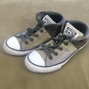 Converse All Star Chuck Taylor Axel Mid Sneaker  Old Silver/Charcoal Size 3 Kids