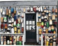 Fishing shack, Niantic, Connecticut by Walter Bibikow / Danita Delimont, Canv...