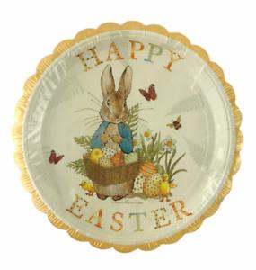Beatrix Potter Peter Rabbit Paper Plates Happy Easter Bunny Disposable 12 Plates