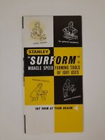 STANLEY SURFORM brochure TOOLS vintage 1950s Blade