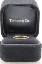 Tiffany & Co 18ct Diamante Oro Metro Completo Anillo De Bodas Anillo de la eternidad £ 2100 Sz6 L