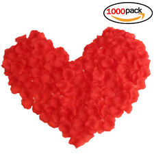 1000 pcs Red Rose Petals Scatter Flowers for Wedding Party Romantic Decoration
