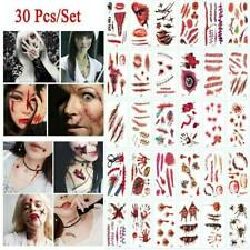 Scar Tattoo Stickers Halloween 30pcs Wound Temporary Stitch Props Cosplay Bloody